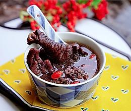 黑米鸡腿汤的做法
