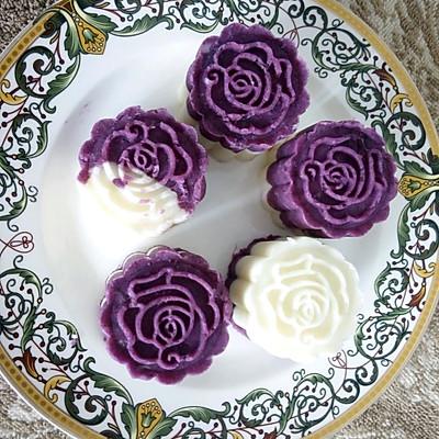 精致甜点——紫薯山药糕