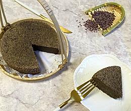 紫米黑芝麻蒸糕#发现粗粮之美#的做法
