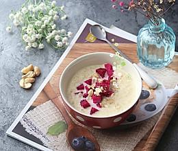 #10分钟早餐大挑战#水果坚果蛋奶燕麦糊的做法