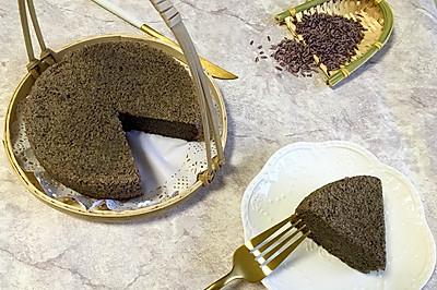 紫米黑芝麻蒸糕#发现粗粮之美#