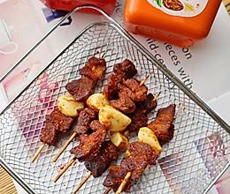 #一勺葱伴侣,成就招牌美味#韩式辣酱烤牛肉串(空气炸烤箱版)的做法