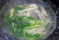 虾米菌菇青菜汤的做法