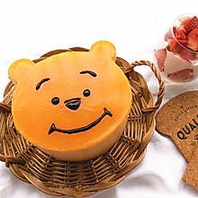 小熊维尼芒果流心慕斯蛋糕
