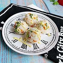 小清新的西兰花金枪鱼小饭团