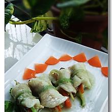橄榄油姜汁焗鲈鱼卷