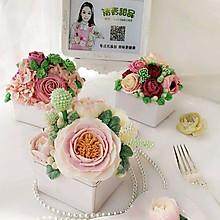 国色天香 提拉米苏 花艺蛋糕#相约MOF#