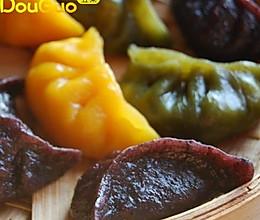 一道可以减肥的高纤维饺子:蔬菜三色健康饺子的做法