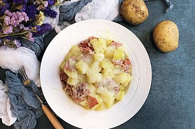 芝士焗培根土豆