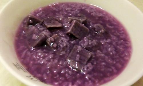 紫薯粥的做法