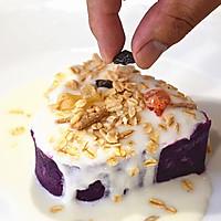 """紫薯酸奶燕麦塔#""""宴""""遇灵山 拈花品素#的做法图解7"""
