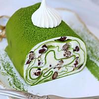 #柏翠辅食节_烘焙零食#抹茶蜜豆毛巾卷的做法图解23