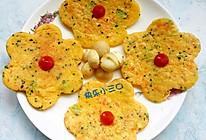 花朵蛋饼/苹果牛奶(西兰花胡萝卜)的做法
