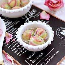 #憋在家里吃什么#雨花石黑芝麻核桃汤圆