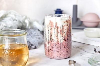 紫米脏脏酸奶#春季食材大比拼#