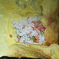 #童年不同样,美食有花样#黄金搭档开花蛋包饭!的做法图解9