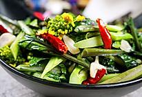 爆炒红菜苔的做法