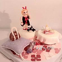 翻糖蛋糕--胖妞的幸福生活#长帝烘焙节华南赛区#