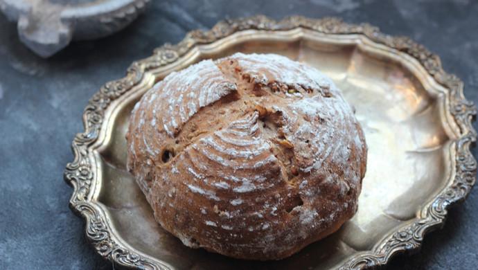 黑啤核桃乡村面包