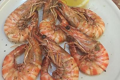 海鹽黑椒蝦