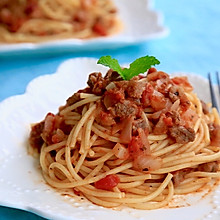 •  番茄牛肉酱意面 •  自制肉酱