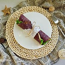 紫薯鸡蛋卷饼#每道菜都是一台时光机#