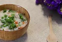 胡萝卜生菜肉末粥的做法
