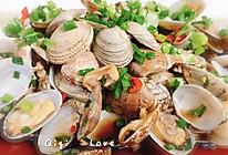 #爽口凉菜,开胃一夏!#拌葱香花甲的做法