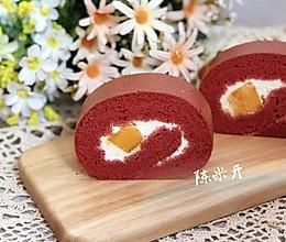 红丝绒芒果蛋糕卷的做法