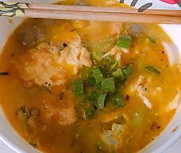 #营养小食光#蛋饺蔬菜肉丸汤的做法