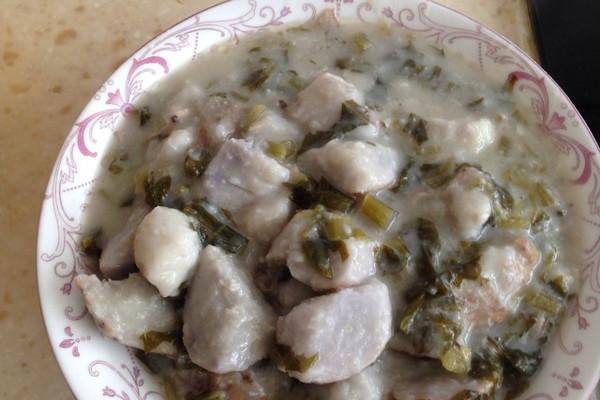 雪菜芋艿羹的做法