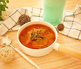 韩式辣牛肉汤的做法