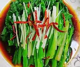 白灼菜心(万能白灼方法)正宗粤菜口味的做法