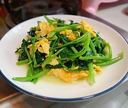 家常菠菜炒鸡蛋的做法