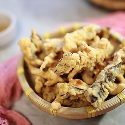 吃出肉味的炸鲜蘑