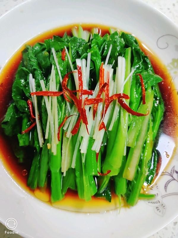 白灼菜心(万能白灼方法)正宗粤菜口味
