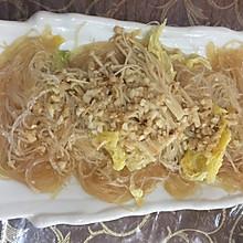 金针菇白菜蒸粉丝