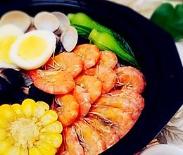 海鲜汤骨烩米线的做法