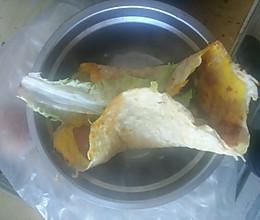 蔬菜鸡蛋卷(3分钟简易早餐)的做法
