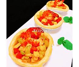 #换着花样吃早餐#虾仁玉米蛋挞的做法
