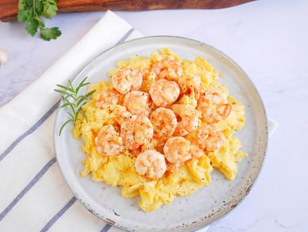 鲜嫩滑爽❗️虾仁滑蛋的做法