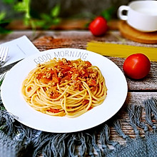 番茄肉酱烩意大利面