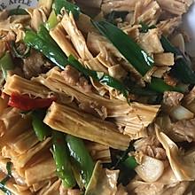 家常菜:腐竹炒肉