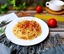 番茄肉酱烩意大利面的做法