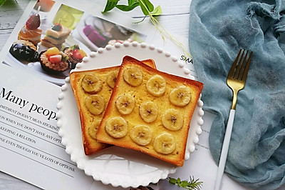 零难度,巨好吃的香蕉烤吐司片