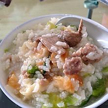 猪肝瘦肉粥—午餐之感冒时周末的一天三餐