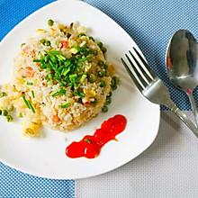 培根豌豆蛋炒饭#厨此之外,锦享美味#