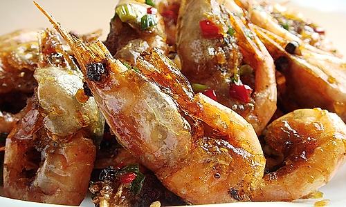 蒜香椒盐北极虾的做法