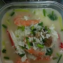 简单的排骨海鲜粥