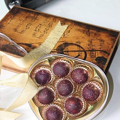 紫薯芝心丸子